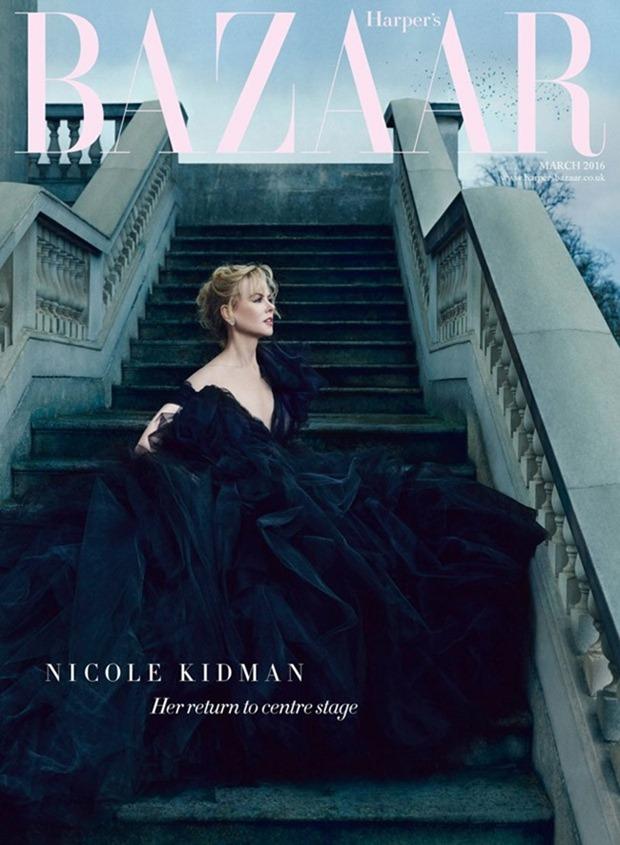 HARPER'S BAZAAR UK Nicole Kidman by Norman Jean Roy. Miranda Almond, March 2016, www.imageamplified.com, Image Amplified (1)