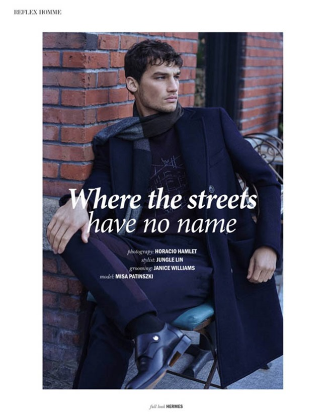 REFLEX HOMME Misa Patinszki by Horacio Hamlet. Jungle Lin, Spring 2016, www.imageamplified.com, Image Amplified