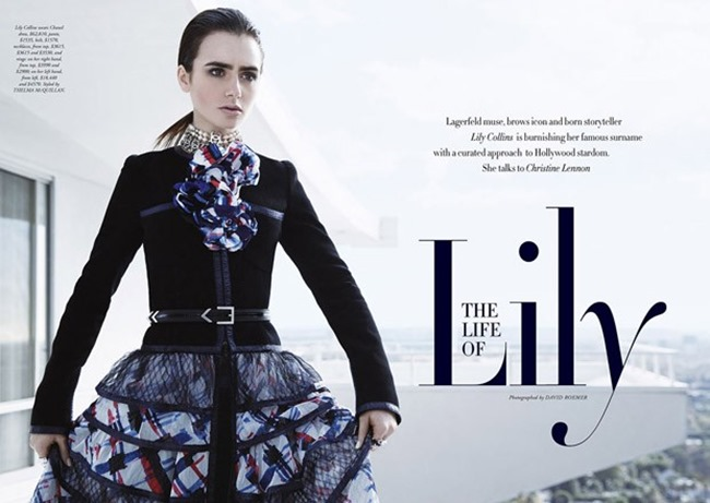 HARPER'S BAZAAR AUSTRALIA Lily Collins by David Roemer. Mara Roszak, March 2016, www.imageamplified.com, Image Amplified (2)