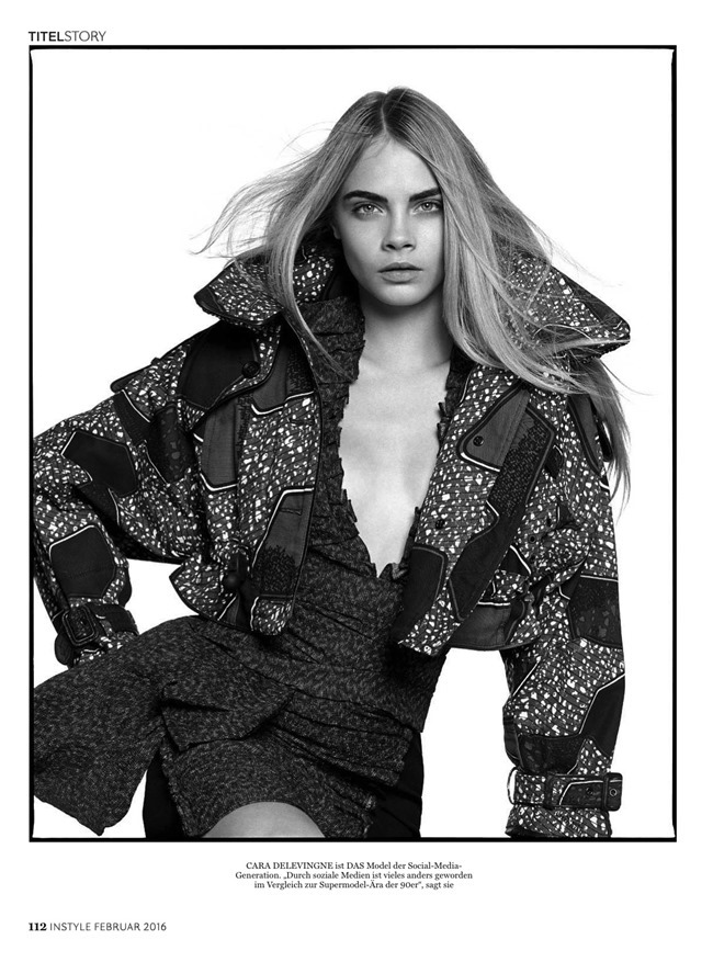 INSTYLE GERMANY Cara Delevigne by David Bailey. February 2016, www.imageamplified.com, Image Amplified (2)