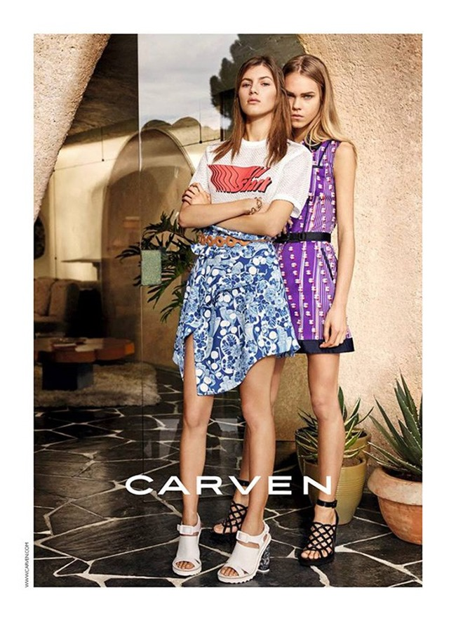 CAMPAIGN Valery Kaufman & Line Brems for CARVEN Spring 2016 by Theo Wenner, www.imageamplified.com, Image amplified (1)