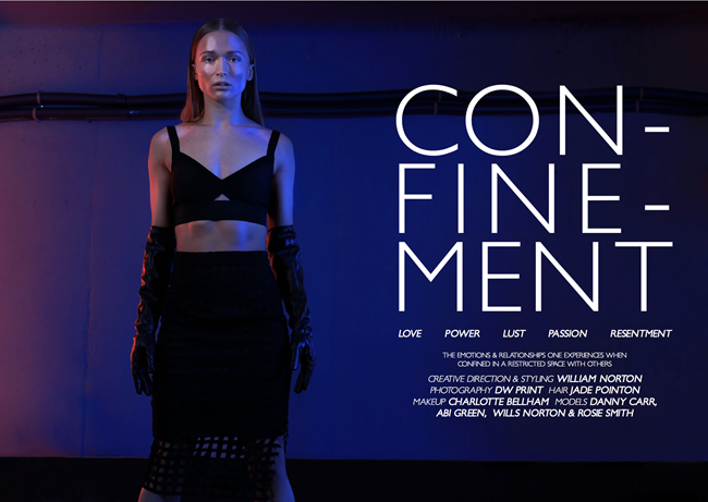 SHINE MAGAZINE: Confinement by DW Print. William Norton, Spring 2016, www.imageamplified.comm, Imaged Amplified