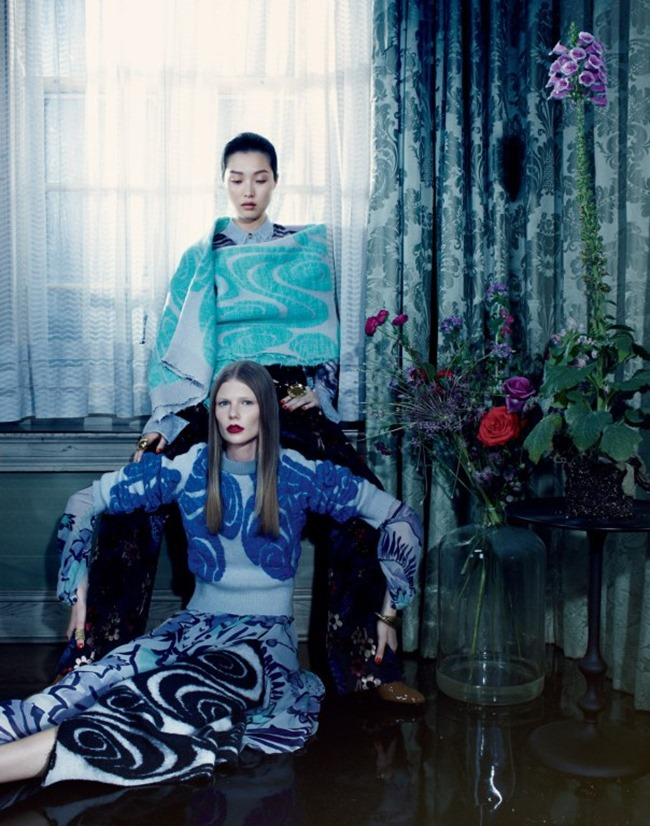 VOGUE CHINA Sung Hee Kim & Alexandra Elizabeth by Emma Summerton. Camille Bidault Waddington, November 2014, www.imageamplified.com, Image Amplified (2)
