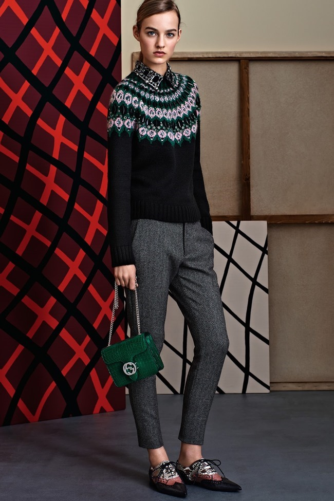 COLLECTION Gucci Pre-Fall 2015. Francesca Burns, www.imageamplified.com, Image Amplified (21)