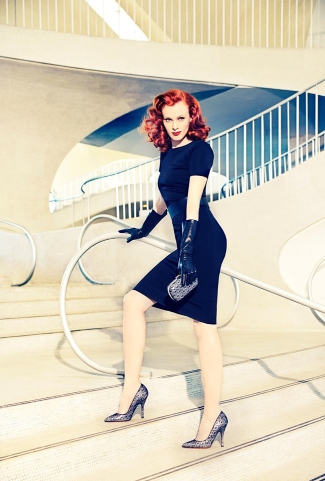 CAMPAIGN Karen Elson for Palter DeLiso Fall 2014 by Ellen von Unwerth. www.imageamplified.com, Image Amplified (5)