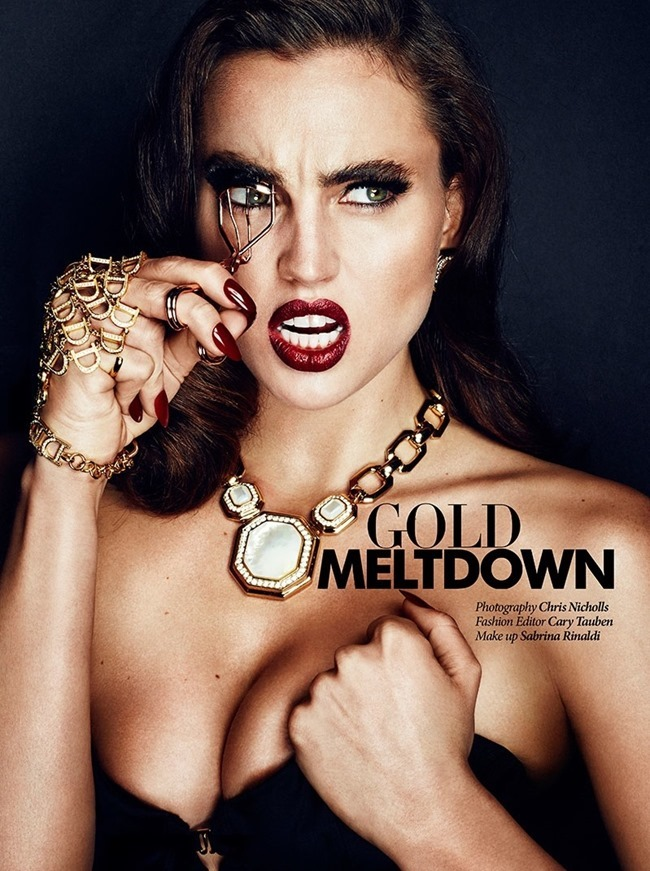 DRESS TO KILL Tilly in Gold Meltdown by Chris Nicholls. Cary Tauben, January 2015, www.imageamplified.com, Image Amplified (1)