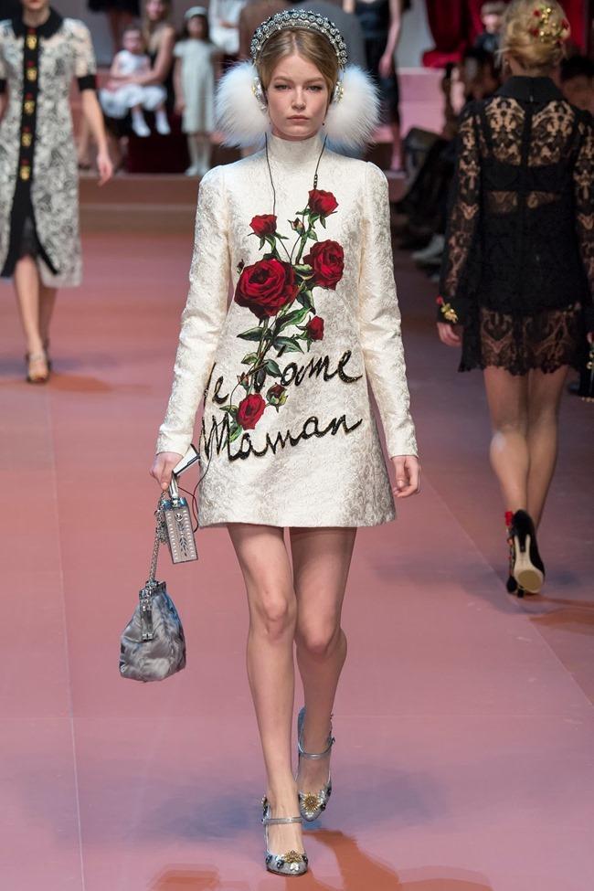MILAN FASHION WEEK Dolce & Gabbana Fall 2015. www.imageamplified.com, Image Amplified (12)