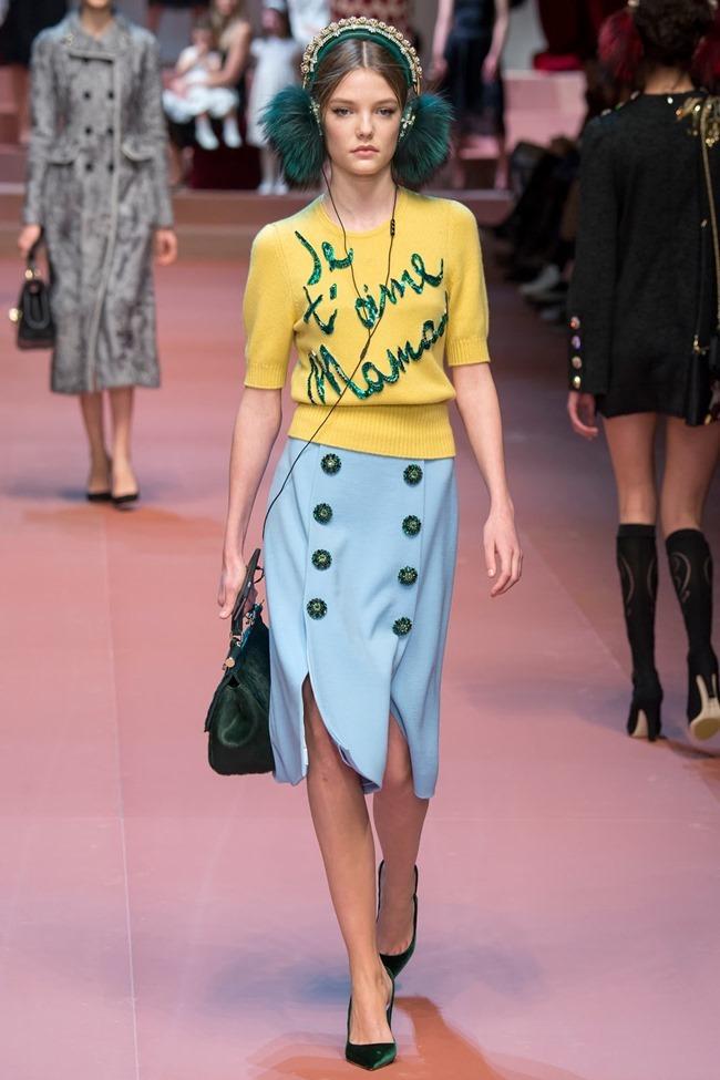 MILAN FASHION WEEK Dolce & Gabbana Fall 2015. www.imageamplified.com, Image Amplified (24)