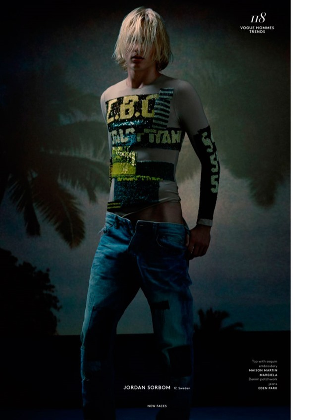 VOGUE HOMMES New Faces by Brett Lloyd. Ylias Nacer, Spring 2015, www.imageamplified.com, Image Amplified (3)