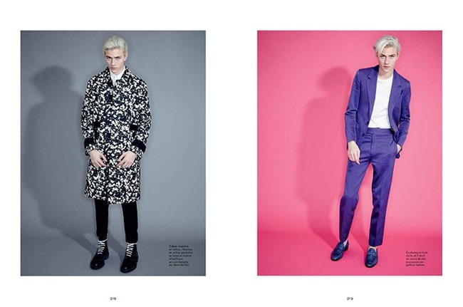 L'OFFICIEL HOMMES Lucky Blue Smith by Andrew hail. Helena Tejedor, Spring 2015, www.imageamplified.com, Image Amplified (9)
