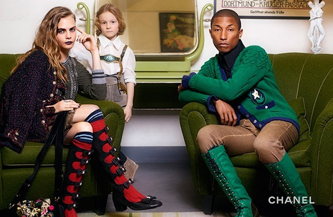 CAMPAIGN Cara Delevigne, Cara Delevigne & Hudson Kroenig for Chanel2015 Paris-Salzburg by Karl Lagerfeld. www.imageamplified.com, Image Amplified (1)