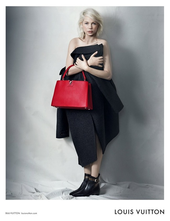 CAMPAIGN Michelle Williams for Louis Vuitton by Peter Lindbergh. Spring 2015, www.imageamplified.com, Image Amplified (2)