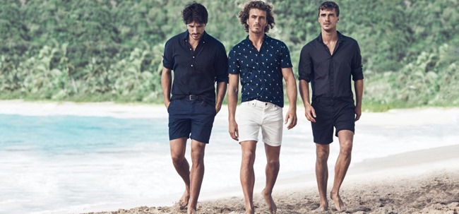 Picture About Male Model Andres Velencoso, Clement Chabernaud, Marlon Teixeira & Clay Pollioni for H&M Summer 2015