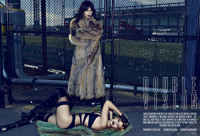 V MAGAZINE Bella Hadid & Gigi Hadid by Steven Klein. Patti Wilson, Summer 2015, www.imageamplified.com, Image Amplified (1)