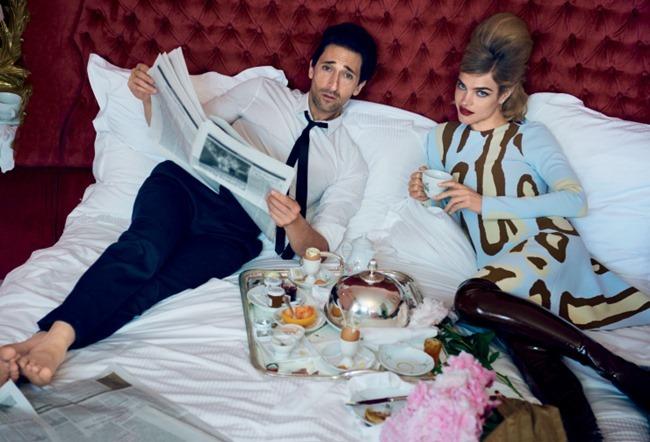 VOGUE MAGAZINE Natalia Vodianova & Adrien Brody by Peter Lindbergh. Grace Coddington, Michael Philouze, July 2015, www.imageamplified.com, Image Amplified (3)