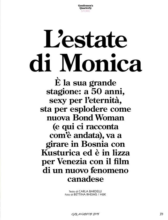 GQ ITALIA Monica Belucci by Bettina Rheims. August 2015, www.imageamplified.com, Image Amplified