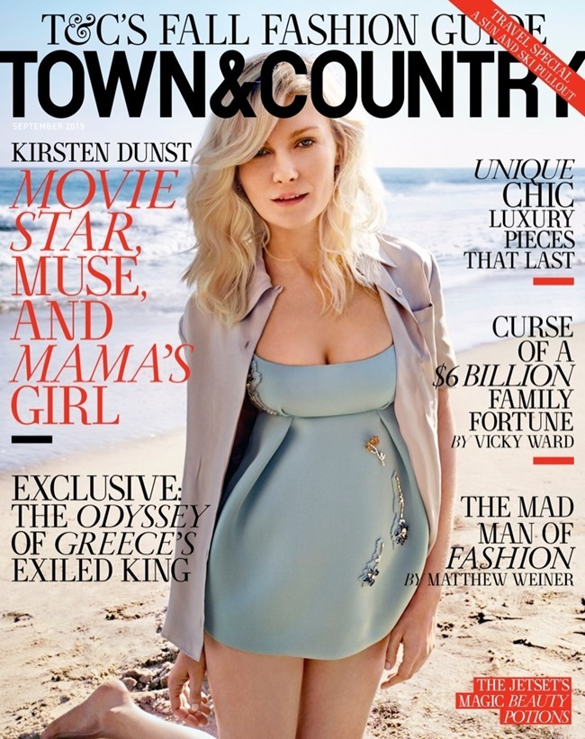 TOWN & COUNTRY Kristen Dunst by Cedric Buchet. September 2015, www.imageamplified.com, Image Amplified (1)