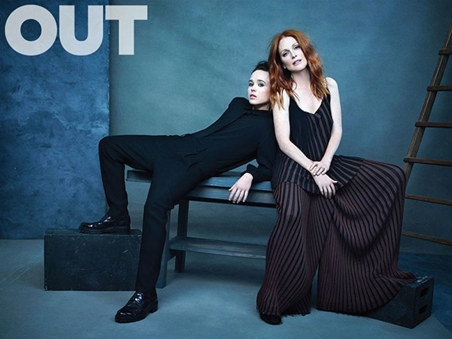 OUT MAGAZINE Julianne Moore & EllenPage by Ruven Afanador. Grant Woolhead, October 2015, www.imageamplified.com, Image Amplified (1)