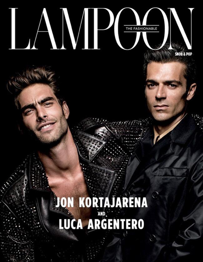 LAMPOON MAGAZINE Jon Kortajarena & Luca Argentero by Michael Avedon. Fall 2015, www.imageamplified.com, Image Amplified (2)