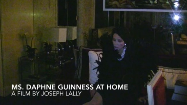 FASHION FILM Daphne Guinness At Home by Joseph Lally. www.imageamplified.com, Image Amplified