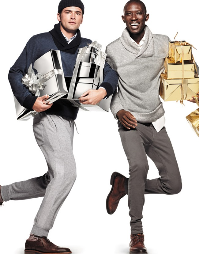 CAMPAIGN Armando Cabral, Sean O'Pry & Miles McMillan for H&M Holiday 2014 by Daniel Jackson. www.imageamplified.com, Image Amplified (3)