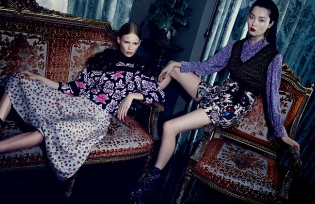 VOGUE CHINA Sung Hee Kim & Alexandra Elizabeth by Emma Summerton. Camille Bidault Waddington, November 2014, www.imageamplified.com, Image Amplified (3)