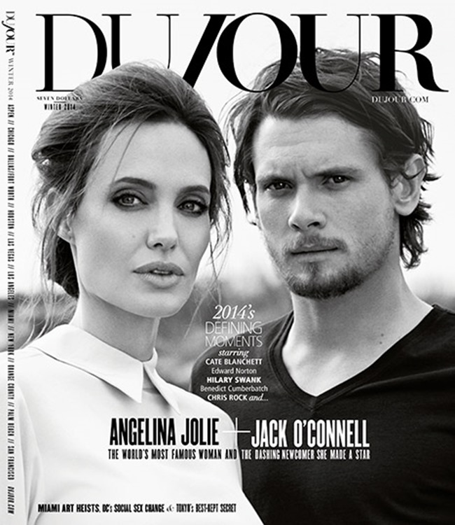 DUJOUR MAGAZINE Angelina Jolie & Jack O'Connell by Francesco Carrozzini. Fall 2014, www.imageamplified.com, Image Amplified (1)