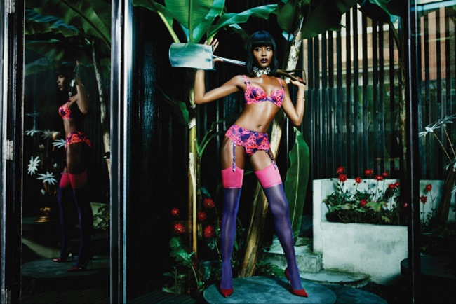 CAMPAIGN Naomi Campbell for Agent Provocateur Spring 2015 by Ellen von Unwerth. www.imageamplified.com, Image Amplified (3)
