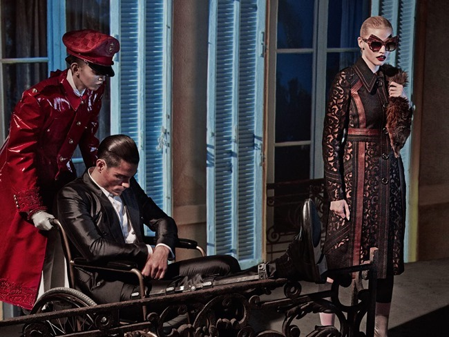 VOGUE ITALIA Lara Stone, Molly Bair & Tyson Ballou by Steven Klein. Patti Wilson, January 2015, www.imageamplified.com, Image Amplified (15)