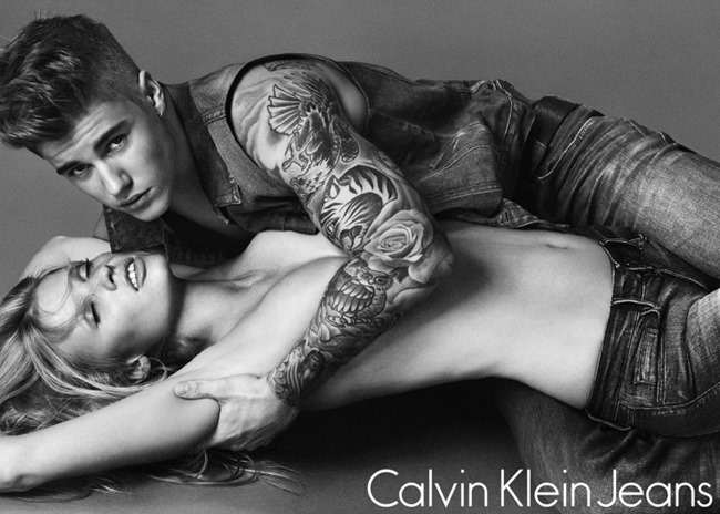 CAMPAIGN Justin Bieber & Lara Stone for Calvin Klein Jeans Spring 2015 by Mert & Marcus. www.imageamplified.com, Image Amplified (2)