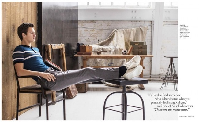 TOWN & COUNTRY Ansel Elgort by Athrur Elgort. February 2015, www.imageamplified.com, Image Amplified (5)
