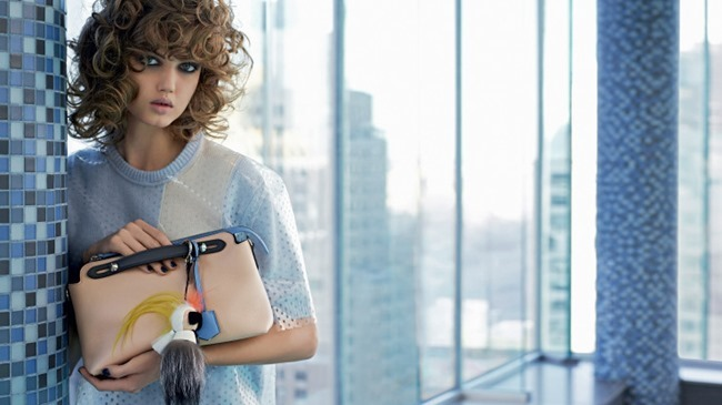 CAMPAIGN Lindsey Wixson & Binx Walto for Fendi Spring 2015 by Karl Lagerfeld. www.imageamplified.com, Image Amplified (4)