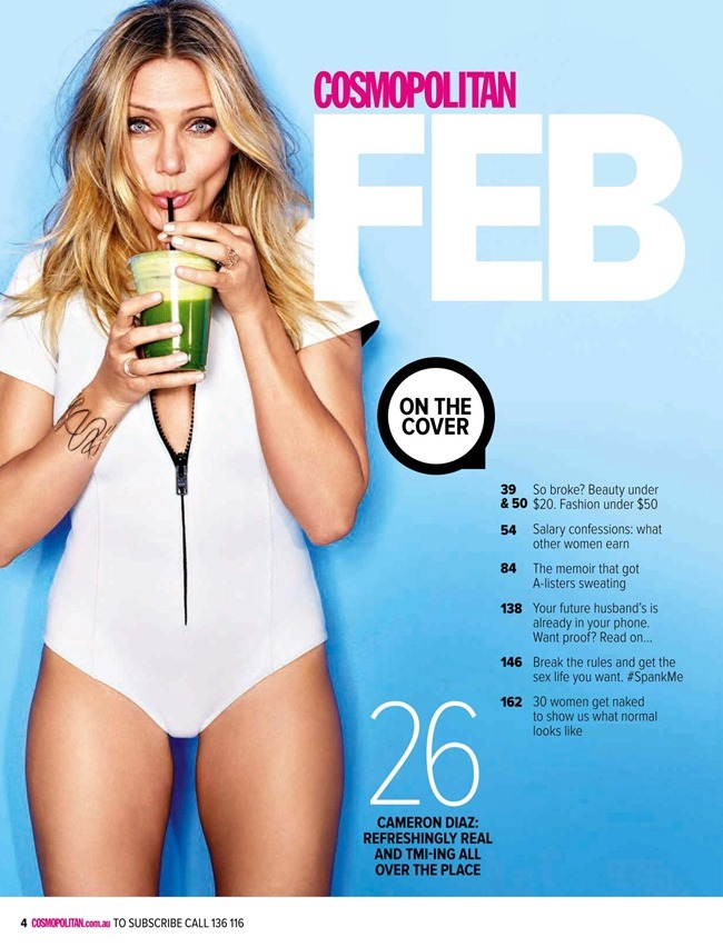 COSMOPOLITAN AUSTRALIA Cameron Diaz by Matthias Vriens-McGrath. Aya Kanai, February 2015, www.imageamplified.com, Image Amplified (5)
