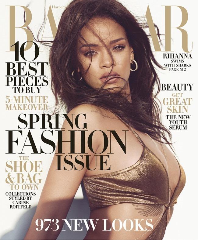 HARPER'S BAZAAR MAGAZINE Rihanna by Norman Jean roy. March 2015, www.imageamplified.com, Image Amplified (1)