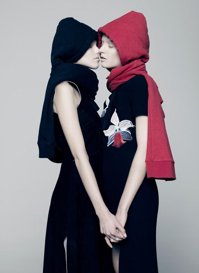 V MAGAZINE Sasha Luss & Daria Strokous by Pierre Debusschere. Tom van Dorpe, Spring 2015, www.imageamplified.com, Image Amplified (7)