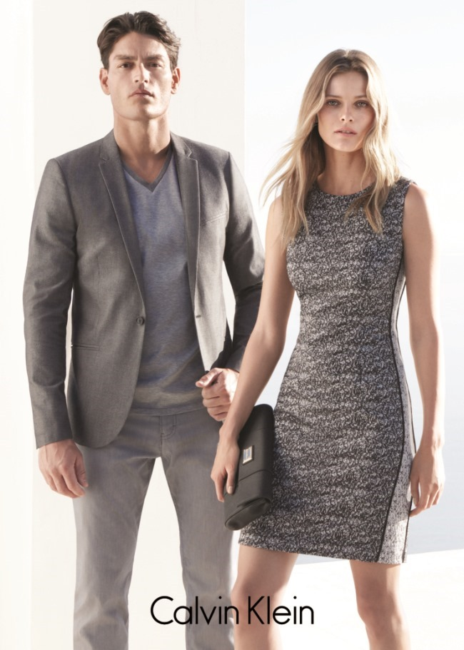 CAMPAIGN Edita Vilkeviciute & Tyson Ballou for Calvin Klein White Label Spring 2015 by Daniel Jackson. Tony Irvine, www.imageamplified.com, Image Amplified (1)