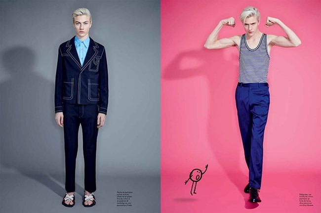 L'OFFICIEL HOMMES Lucky Blue Smith by Andrew hail. Helena Tejedor, Spring 2015, www.imageamplified.com, Image Amplified (2)