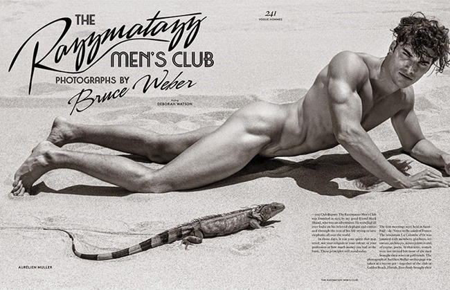 VOGUE HOMMES INTERNATIONAL The Razzmatazz Mens Club by Bruce Weber. Deborah Watson, Spring 2015, www.imageamplified.com, Image amplified (1)