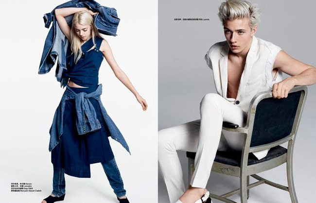 HARPER'S BAZAAR CHINA Lucky Blue Smith by David Roemer. Katie Burnett, May 2015, www.imageamplified.com, Image Amplified (6)
