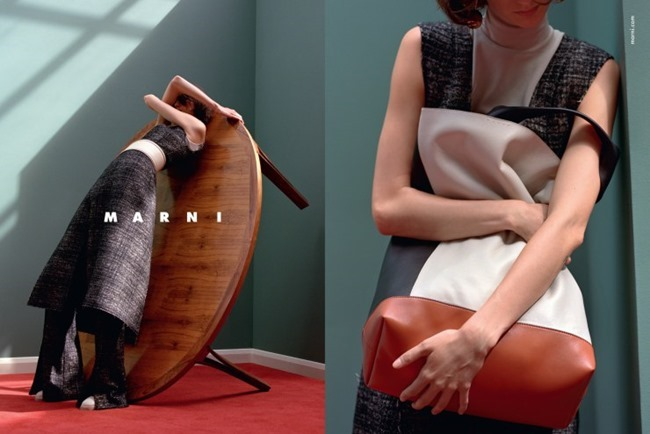 CAMPAIGN Marte Mei van Haaster for Marni Fall 2015 by Jackie Nickerson. Lucinda Chambers, www.imageamplified.com, Image Amplified (1)