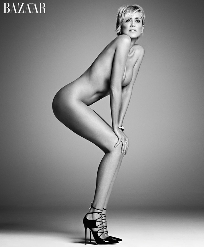 HARPER'S BAZAAR MAGAZINE Sharon Stone by Mark Abrahams. September 2015, www.imageamplified.com, Image Amplified (2)