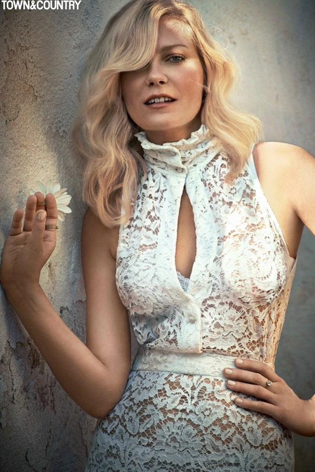 TOWN & COUNTRY Kristen Dunst by Cedric Buchet. September 2015, www.imageamplified.com, Image Amplified (2)