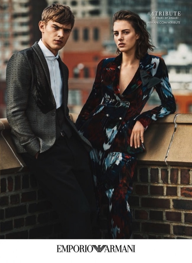 CAMPAIGN Eliza Cummings & Bo Develius for Emporio Armani Fall 2015 by Lachlan Bailey. Clare Richardson www.iamgeamplified.com, Image Amplified (6)