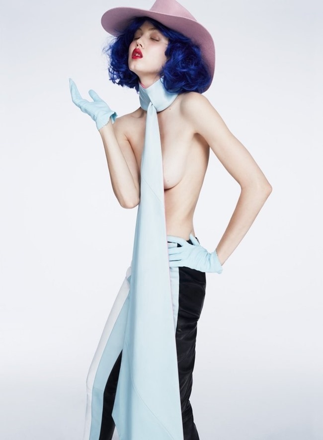 V MAGAZINE Lindsey Wixson by Anthony Maule. Brandon Maxwell, Fall 2015, www.imageamplified.com, Image Amplified (5)