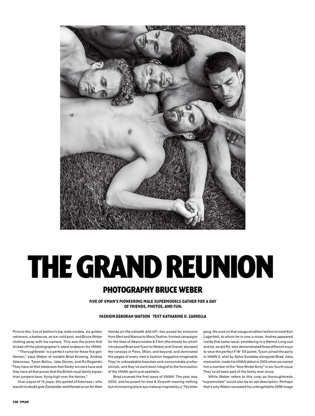 V MAN MAGAZINE The Grand Reunion by Bruce Weber. Deborah Watson, Fall 2015, www.imageamplified.com, Image Amplified (1)