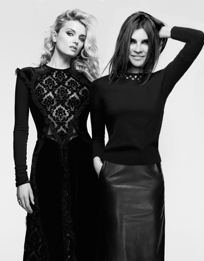 MADAME FIGARO MAGAZINE Carine Roitfeld & Lily Donaldson by Anthony Maule. September 2015, www.imageamplified.com, Image Amplified (1)