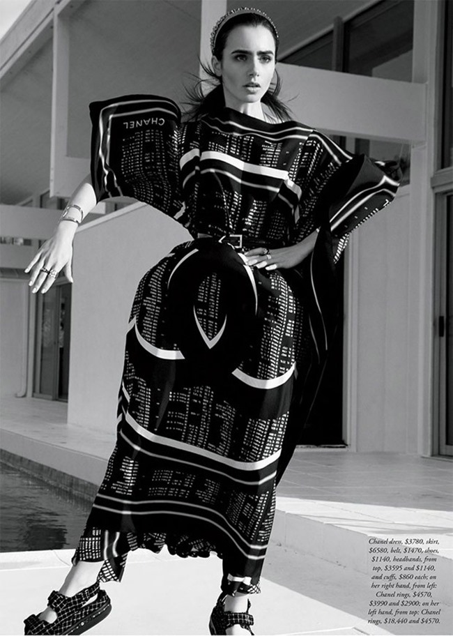 HARPER'S BAZAAR AUSTRALIA Lily Collins by David Roemer. Mara Roszak, March 2016, www.imageamplified.com, Image Amplified (9)