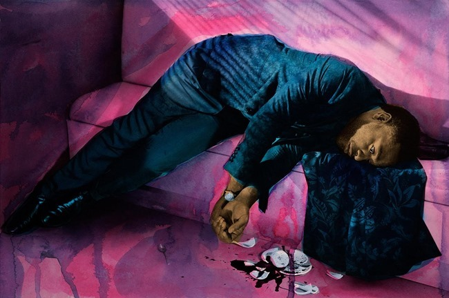 L'UOMO VOGUE Chiwetel Ejiofor by Miles Aldridge. Robert Rabensteiner, February 2016, www.imageamplified.com, Image Amplified (4)
