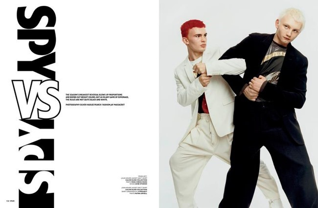 V MAN MAGAZINE Spy vs Spy by Oliver Hadlee Pearch. Jay Massacret, Sprign 2016, www.imageamplified.com, Image Amplified (1)